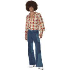 anni '60 '70anni '70 Hippie Costume pantaloni svasati Uomo DISCOTECA danza