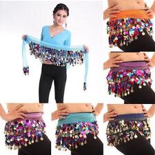 Belly Dance Costume Sequin Hip Scarf Belt Wrap Skirt Festival Club Fancy Skirt