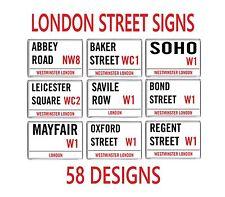célèbres ICONIQUE LONDRE Panneau de signalisation Aimant de réfrigérateur 58