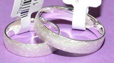 Oro 585 Bianco Fedi Nuziali Prezzo A Coppia Ghiaccio-matt Con Diamante 0, 04ct