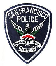 Patch Patch estados unidos Police san francisco frisco SFPD policía américa azul-blanco