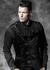 Mens Velvet Waistcoat Gothic Black Punk Rave Y-481