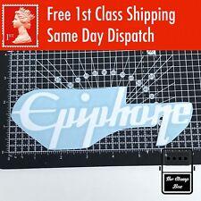 """Guitare Epiphone logo 7 x 2.5"""" Autocollant Vinyle projet autocollant Guitar Case fenêtre voiture"""