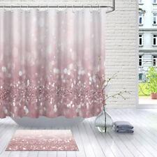 "72"" Waterproof Bathroom Shower Curtain Pink Abstract Bokeh Light Fabric w/Hooks"