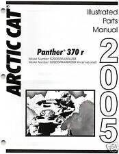 2005 ARCTIC CAT PANTHER 370 r SNOWMOBILE PARTS MANUAL