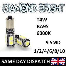 LED CANBUS BA9S LED 12V 9SMD LIGHT T4W H6W 5050 LED BULB ERROR FREE