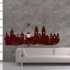 Wandtattoo Uhr KARLSSON Wanduhr Skyline Prag Prague capital clock czech +399+