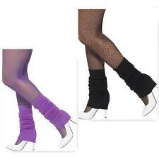 Leg Warmers dance 80s Black Purple 1980s legwarmers smiffys costume accessory