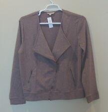 NWT Banana Republic Women's Full Zip Jacket Size S M Light Brown Heather