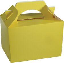 Amarillo Fiesta Infantil merenderas para llevar Cajas Boda Cumpleaños