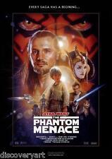 Star Wars I - The Phantom Menace 1999 Movie Poster Canvas Wall Art Print
