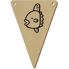 'Lindo Sunfish' Banderas Banderines De Madera (vBN0018079)