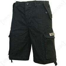 negro PARACAIDISTA Pantalones Cortos - Combate Ejército Militar Estilo Hombre
