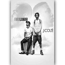60714 Kendrick Lamar and J Cole FRAMED CANVAS PRINT UK