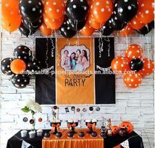"""12 """""""" Naranja y Negro de Látex para Halloween Globos Papel Aluminio 18 """""""" Grande"""