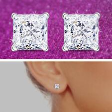 Princess Cut Stud Earrings VVS FG Color IGI Certified Brilliant Shine 0.30 CT