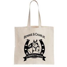 Personalizado ponis Bolso Shopper Pony Caballo Jinete añadir 2 Nombres Regalo De Cumpleaños