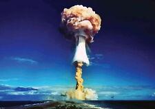 139088 ATOMIC BOMB NUKE MUSHROOM CLOUD Wall Poster Print Affiche