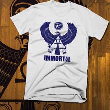 Egyptian Kemet T-shirt Immortal Ankh hieroglyphics blue Falcon S to 3XL, cotton
