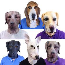 Latex Dog Mask Beagle Bloodhound Labrador Terrier Fancy Dress Stag Masks