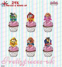 Paw Patrulla 24 Stand-Up Taza de papel de oblea de pre-cortado Cake Toppers