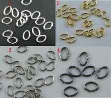 400pcs Gold/Silver/Gunmetal Black/Dull Silver Oval Jump Rings 5x7mm