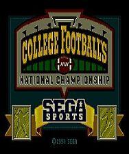 College Football's National Championship (Sega Genesis)