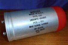 Mallory Electrolytic Capacitor 1800 Mfd / 450 VDC Type CGS 20-91656