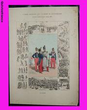 planche Infanterie de Ligne 1835 Louis Phillipe