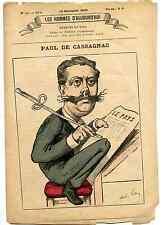 Les Hommes d'Aujourd'hui Cassagnac dessins de Gill texte Félicien Champsaur 1878