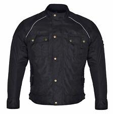 New Black Mens Motorcycle Waterproof Cordura Textile Jacket Motorbike CE Armours