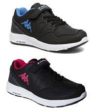 Kappa Spander EV Kids Girls Boys Trainers Black Pink Blue Juniors Sneakers New