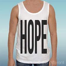 "CANOTTA T-SHIRT "" SCRITTA HOPE NERA ""IDEA REGALO ROAD TO HAPPINESS"