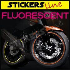 Adesivi ruote fluorescente strisce cerchi fluorescenti