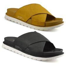 Ladies Womens Low Flat Heel Slip On Summer Beach Mules Footbed Sandals Shoe Size