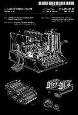 2001 - Control Circuits Electric Coding Machine - Enigma Machine - Patent Poster