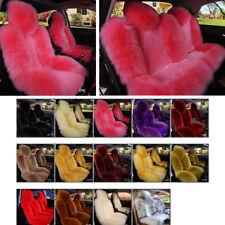 Multicolor Australian Sheepskin Car Long Wool Seat Covers Cushion Pad Full Set