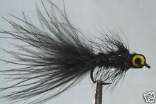 1 x Mouche de peche Streamer Dognobbler Noir Yeux H8/10/12 fly eye