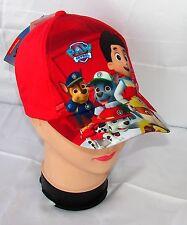 Paw Patrol cappello berretto visiera Estivo Bambino Baseball tg 50 e 52 rosso