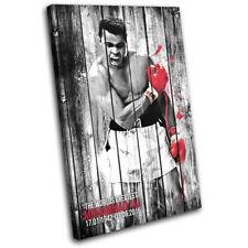 Muhammad Ali Boxing Vintage Sports SINGLE LONA pared arte Foto impresion
