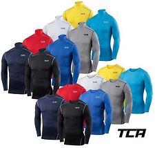TCA Herren Jungen Base Layer Kompressionsshirt Funktionsshirt Langarm