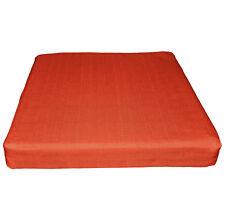 Qh19t Bright Orange Linen Cotton Blend 3D Box Sofa Seat Cushion Cover Custom Siz