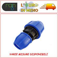 RACCORDO A COMPRESSIONE MANICOTTO RIDOTTO PN16 RAIN IRRIGAZIONE TUBO POLIETILENE