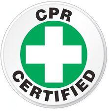 CPR Certified Hard Hat Decal Hard Hat Sticker Helmet Safety Label H12