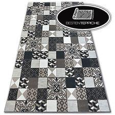 Echte Modischen Teppiche Billig Modern Teppich Stil LISBOA Quadrate Platte Braun