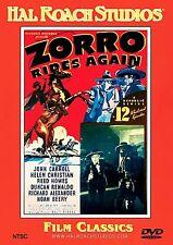 Zorro Rides Again DVD w/Insert John Carroll Hal Roach Studios Film Classics
