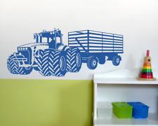 Wandtattoo Großer Traktor mit Anhänger Trecker Kinderzimmer  25 Farben 8 Größen
