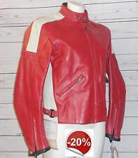 Giacca pelle moto rossa