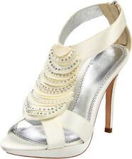 Bourne Ivory Georgia �151 3 8 Bridal Shoe Diamante Cristal Encrusted Petal T-bar