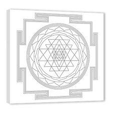 Sri Yantra Tratamiento de pintura Dibujos para colorear con marco acabado